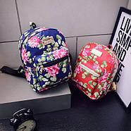 Женский городской рюкзак красный, фото 5
