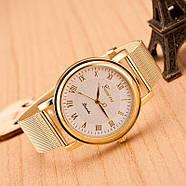 Женские часы Geneva Princess золотые с белым, наручний жіночий годинник, кварцевые наручные часы, фото 2