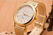 Женские часы Geneva Princess золотые с белым, наручний жіночий годинник, кварцевые наручные часы, фото 3