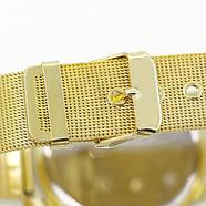 Женские часы Geneva Princess золотые с белым, наручний жіночий годинник, кварцевые наручные часы, фото 4