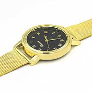Женские часы Geneva Princess золотые с черным, жіночий наручний годинник, кварцевые наручные часы, фото 3