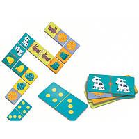 Игра – детское домино Цветные животные Djeco DJECO (DJ08111)