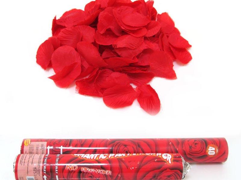 Хлопушка пневматическая 4853-30 Красные лепестки роз (30см)