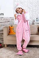 Пижама-кигуруми Хелло Китти бело-розовая