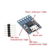 USB - TTL конвертер CP2102 3.3/5В MicroUSB (UART RS232 TTL)