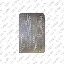 Металлизированные наклейки CANNI M-005 серебро