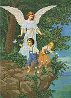 Схема для вышивки бисером Ангел-хранитель, защищающий детей КМР 4187