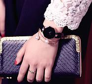Женские наручные часы Classic черные, жіночий наручний годинник, фото 4