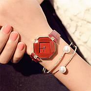 Женские наручные часы Classic красные, Жіночий наручний годинник, фото 2