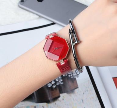 Женские наручные часы Classic красные, Жіночий наручний годинник