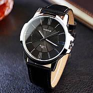 Мужские часы Yazole 332 черные, Чоловічий наручний годинник, Мужские наручные часы, фото 4