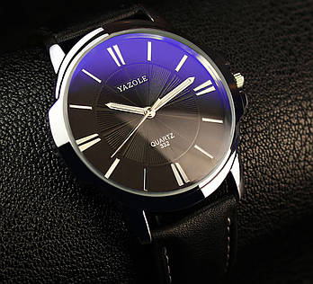 Мужские часы Yazole 332 черные, Чоловічий наручний годинник, Мужские наручные часы