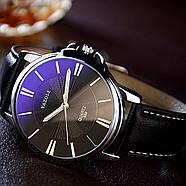 Мужские часы Yazole 332 черные, Чоловічий наручний годинник, Мужские наручные часы, фото 2