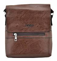 Брендовая сумка для мужчины Jeep Buluo 9008 коричневая