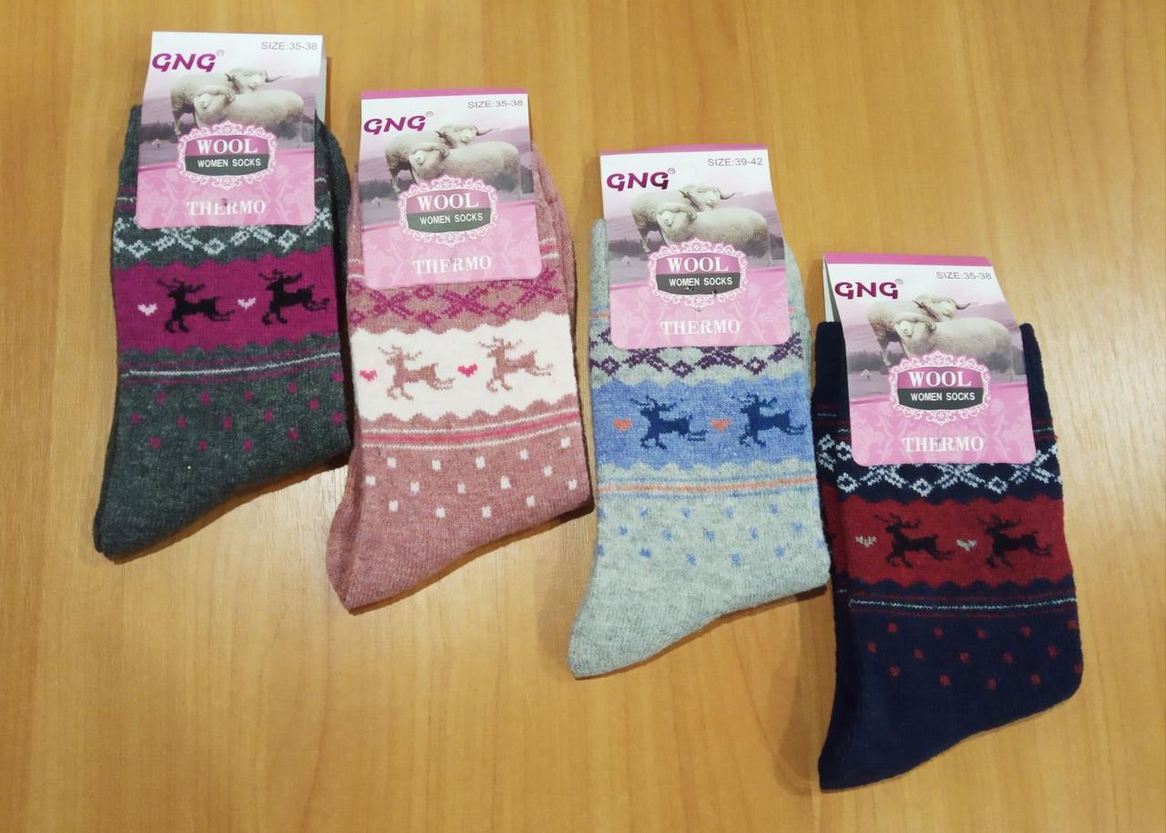 Ангора женские тонкие шерстяные носки GNG