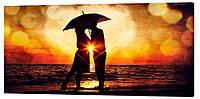 Картина на холсте Декор Карпаты Влюбленная пара 50х100 см (l107)