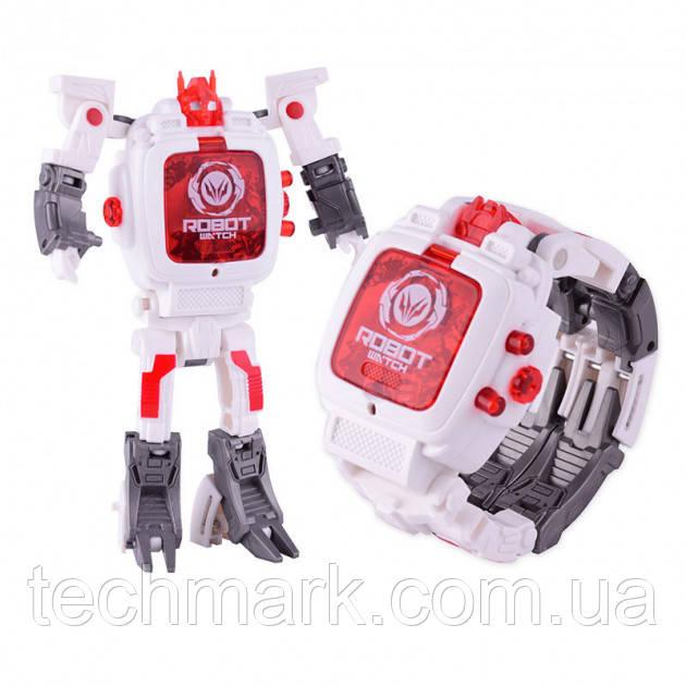 Детская игрушка Robot Watch часы робот трансформер 2 в 1 White