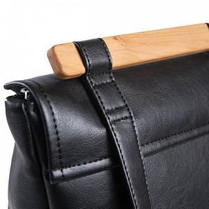 """Женский городской рюкзак Skins """"Triangle"""" Молодежный, повседневный, для учебы ( Міський, чорний), фото 2"""