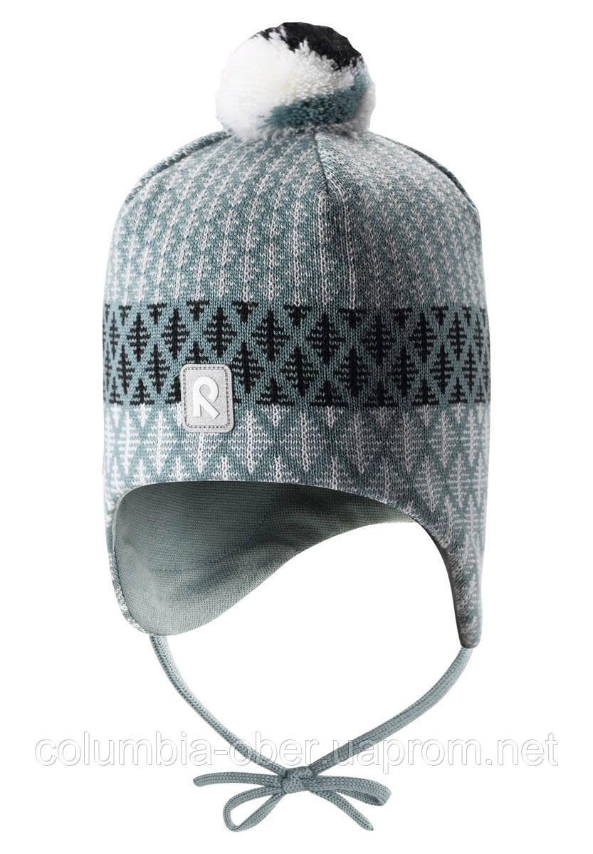 Зимняя шапка-бини для мальчика Reima Uljas 518531-8571. Размеры 46 - 54.