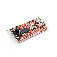 USB - TTL конвертер FT232RL 3.3/5В miniUSB (UART RS232 TTL), фото 1
