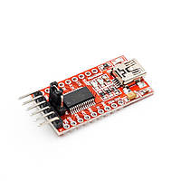 USB - TTL конвертер FT232RL 3.3/5В miniUSB (UART RS232 TTL)