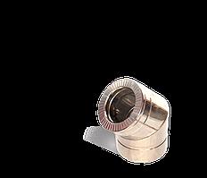 Версия-Люкс (Кривой-Рог) Колено 45, утепленное нержавейка, толщина 0,5 мм, диаметр 100мм
