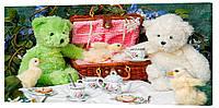 Картина на холсте Декор Карпаты Плюшевые мишки 50х100 см (763)