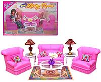 """Мебель для Барби 9704 """"Гостиная"""", в коробке"""