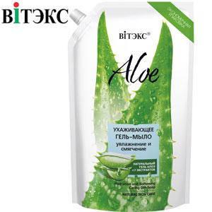 Витэкс - Aloe 97% Жидкое гель-мыло ухаживающее увлажнение, питание 750ml дой-пак, фото 2