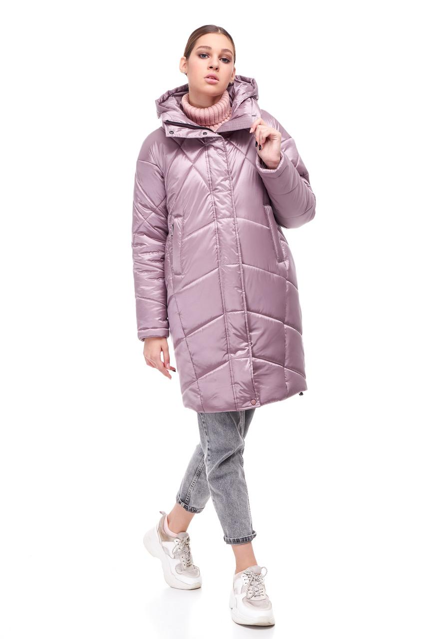 Новинка! Зимнее пальто-кокон на синтепухе Наоми размеры 44