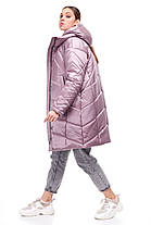 Новинка! Зимнее пальто-кокон на синтепухе Наоми размеры 44, фото 3