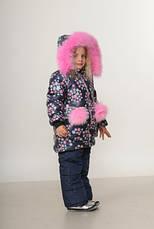 Детский зимний комбинезон для девочки Беатрис | размеры  92-110, фото 3