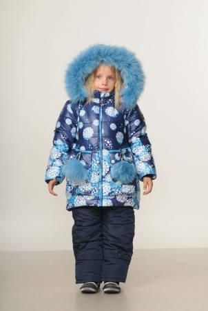 Детский зимний комбинезон для девочки Беатрис | размеры  92-110, фото 2