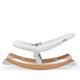 Стильный шезлонг качалка Kinderkraft Finio с регулировкой ремней безопасности, фото 4