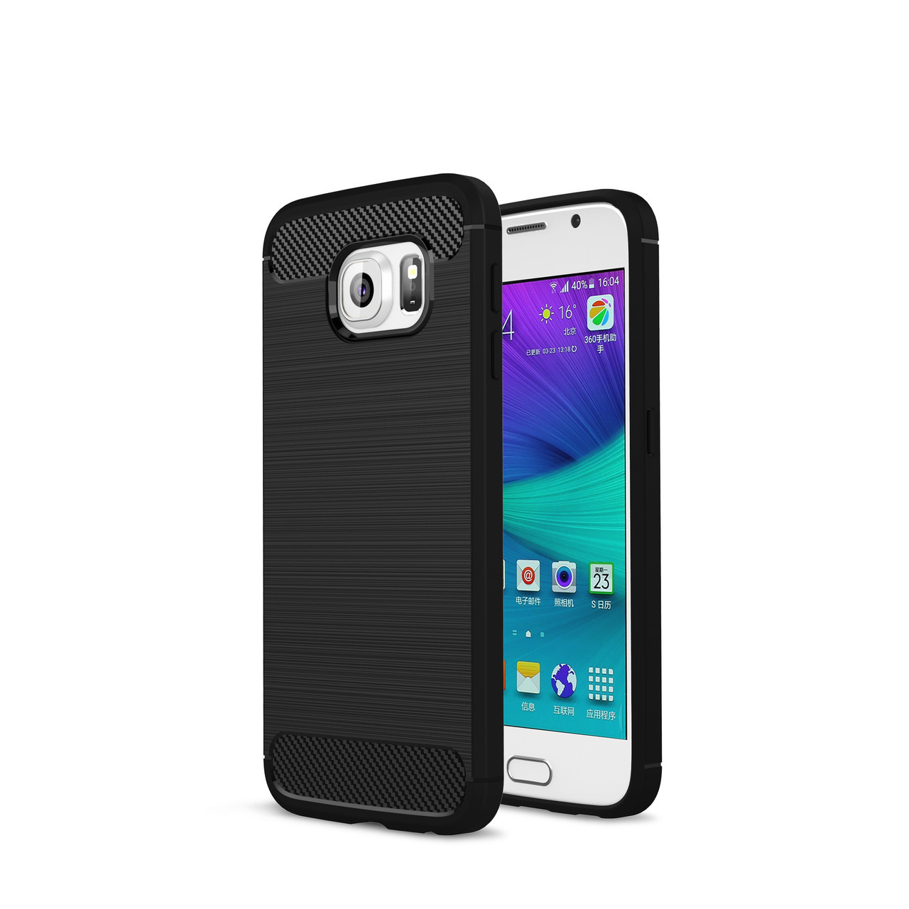 Чехол для Samung Galaxy S6 Carbon