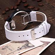 Женские часы белый циферблат, наручний жіночий годинник, кварцевые женские наручные часы, фото 4