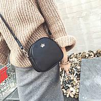 Женская сумка через плечо Crown корона черная, Жіноча сумочка, Клатч