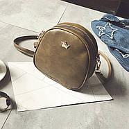 Женская сумка через плечо Crown корона оливковая, Жіноча сумочка, Клатч, фото 2