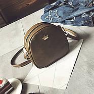 Женская сумка через плечо Crown корона оливковая, Жіноча сумочка, Клатч, фото 3