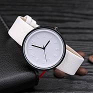Женские часы Casual style белые, жіночий наручний годинник, кварцевые наручные часы, фото 3