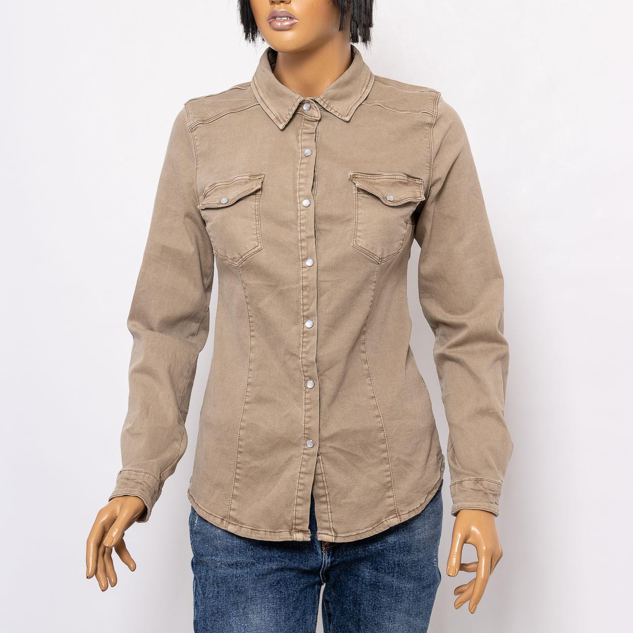 Рубашка с длинным рукавом женская 3D DENIM 6859/25 BEJ
