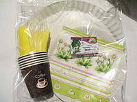 Набор бумажной посуды здоровье на 6 персон