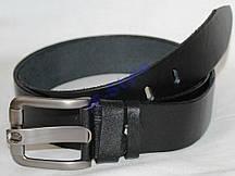 Пояс кожаный джинсовый 4,5 см черный одинарный 19499