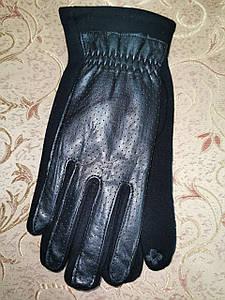 Кожа с трикотаж сенсором перчатки мужские только оптом