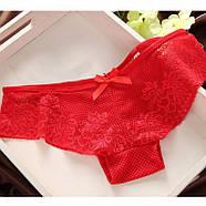 Комплект нижнего белья 75B (34B) red, push up, набор женского белья с пуш ап, фото 2