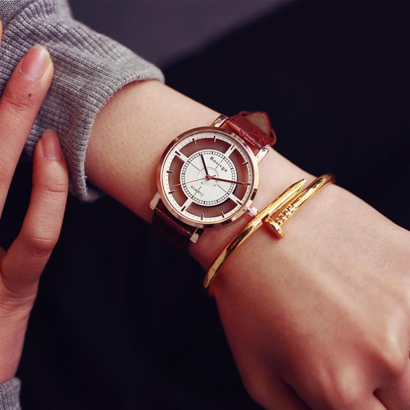 Женские наручные часы Rosivga коричневые