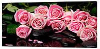 Картина на холсте Декор Карпаты Розы 50х100 см (c28)