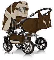 Универсальная коляска-трансформер Prado lux, Trans baby,коричневый+св.беж