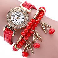 Женские часы браслет с красным ремешком, фото 2