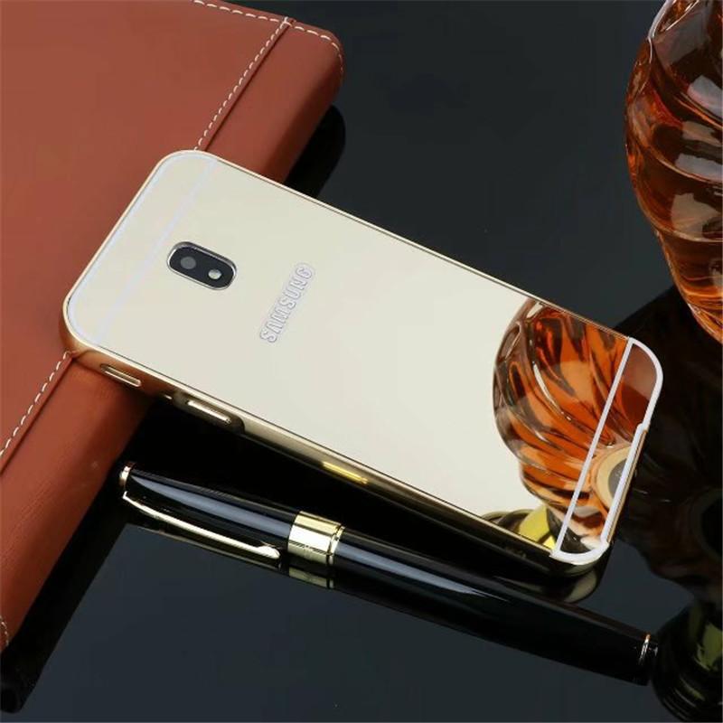Чехол для Galaxy J3 2017 / Samsung J330 зеркальный золотистый